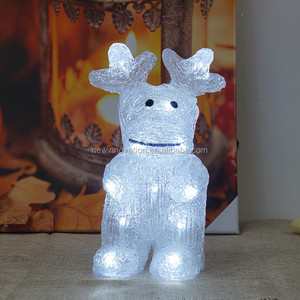 10L White LED New Christmas Lights Acrylic Reindeer Light