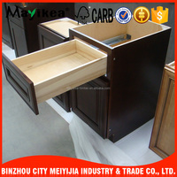 Low cost small regular sized MDF / solid wood Door Material modualr kitchen cabinet