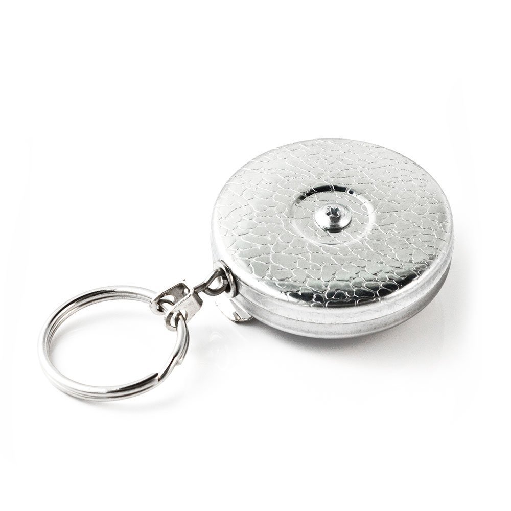 Key-Bak Original Series Retractable Key Reel with Stainless Steel Spring and Kevlar or Chain Tether, USA Made since 1948