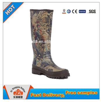 Hellozebra Women Rain Boots Waterproof Fashion Ankle 36