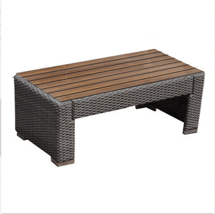 mesa y silla de mimbre estilo elegancia real poli muebles de jardn de ratn sinttico