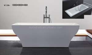 K19 UPC freestanding bath square 100% acrylic bath tub