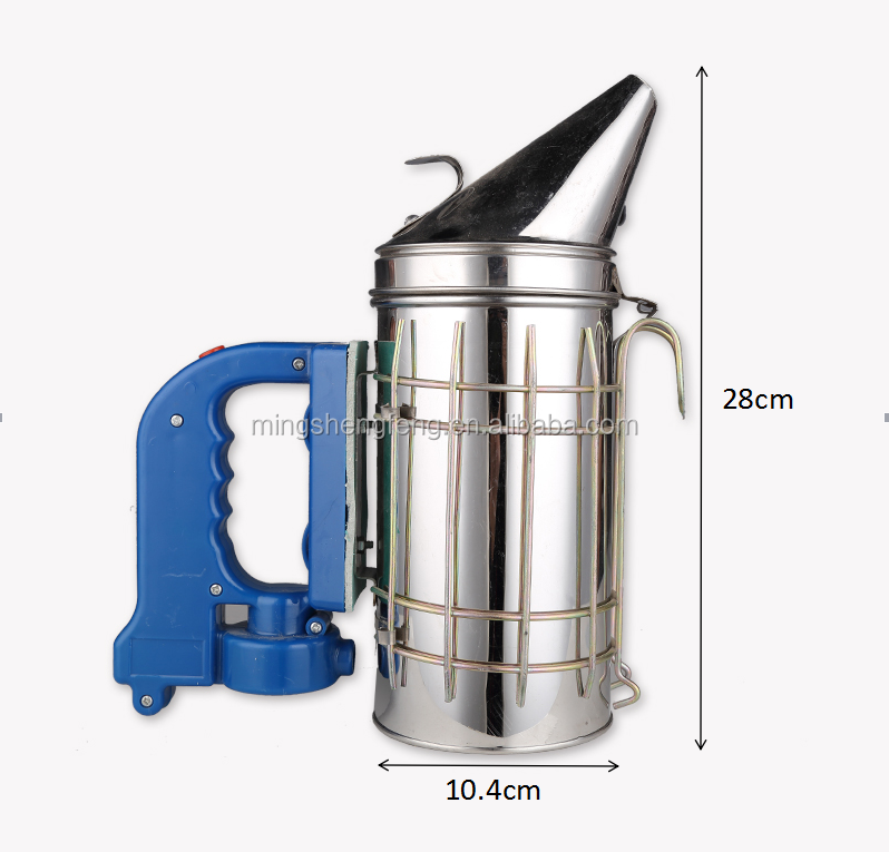 European round head honey farming equipment stainless steel bee smoker