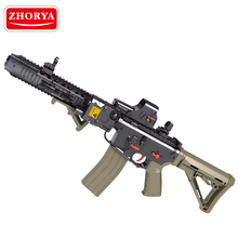 Zhorya plastic kids playing cool M4 crystal gel soft water bullet toy gun