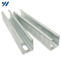 Best Price Mild Steel Galvanized Metal Slotted Unistrut C Channel Strut Rail