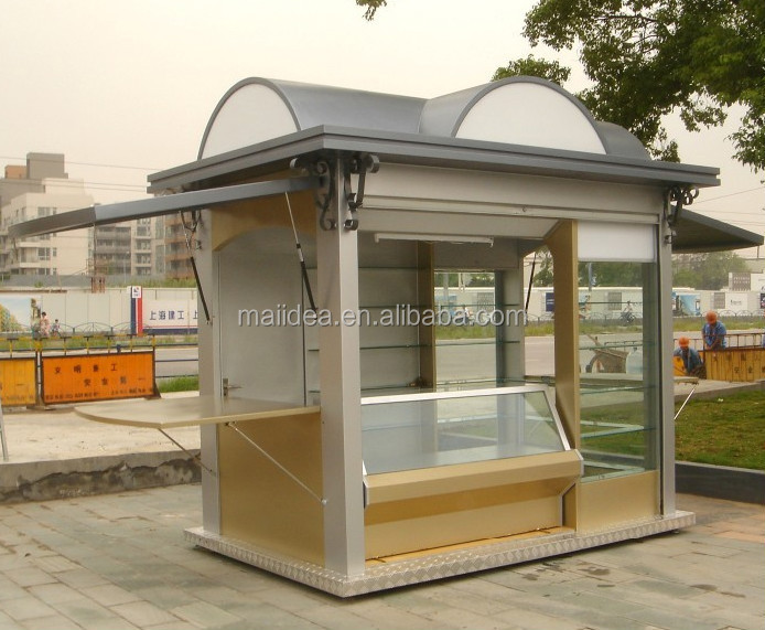 Nice looking with durable structure outdoor food kiosk for Exterior kiosk design