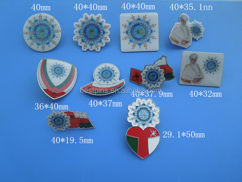 New Souvenir Products 2015 Oman 45 Years National Emblem 1437 Magnetic  Badge Pin - Buy New Souvenir Products 2015 Oman National Emblem Magnetic  Badge