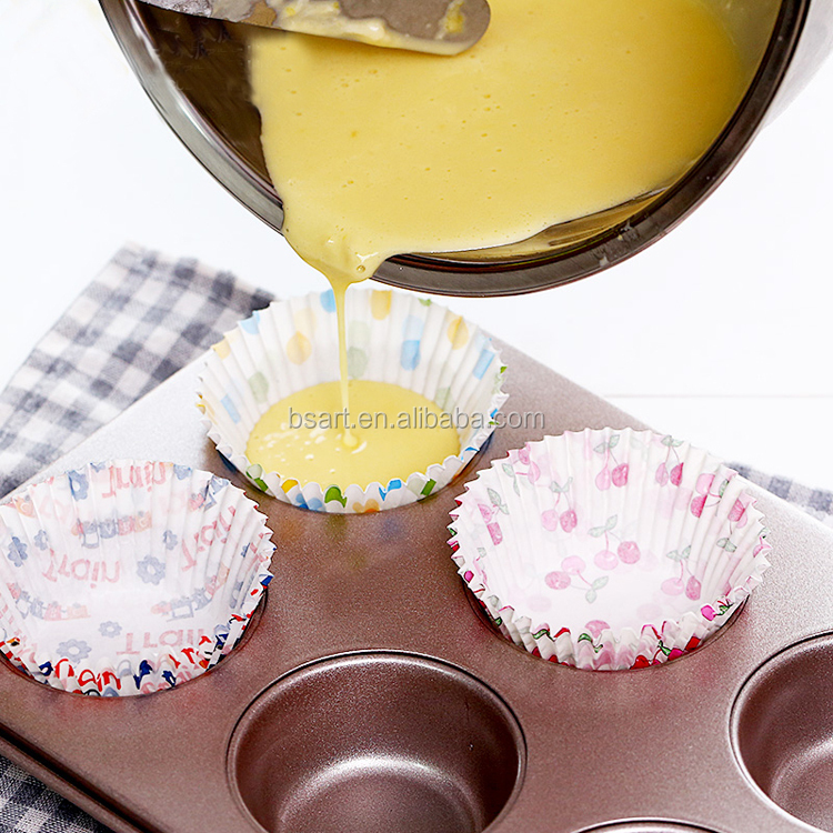 customed disposable cupcake paper baking cake cups