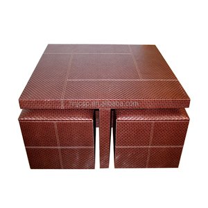 Set of 5 PU coffee table