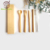 Wholesale Eco friendly bamboo wood travel cutlery flatware set