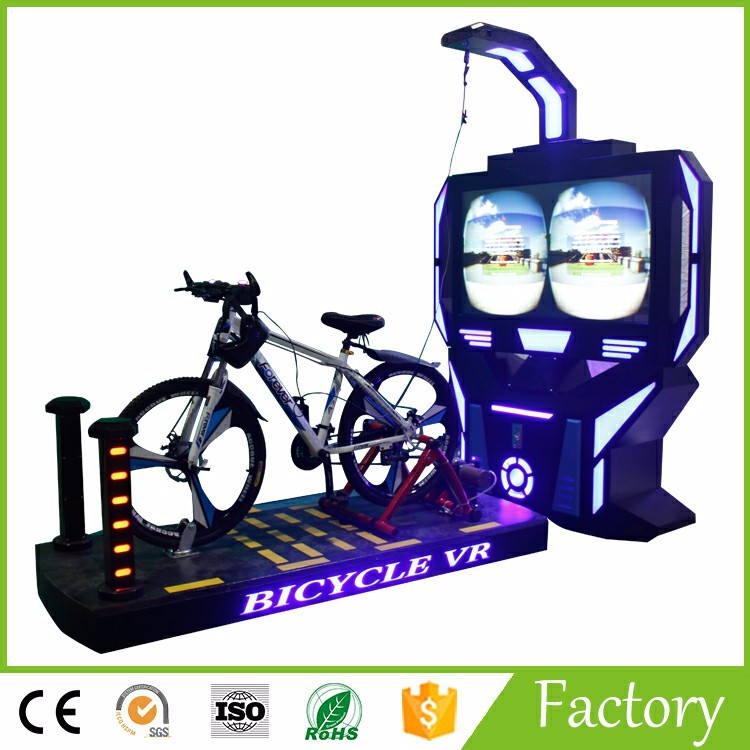 2017 new product bike VR racing bike 9d game simulator