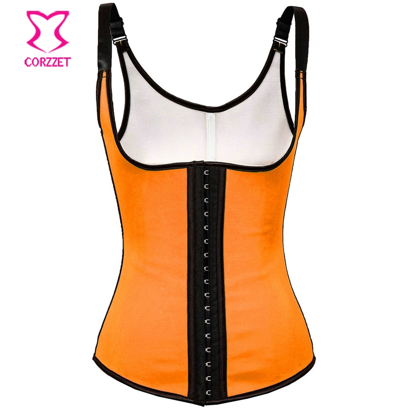 ad9c26f8f809f Get Quotations · Plus Size Women Steel Boned Underbust Vest Corset Waist  Training Corsets Slimming Sport Ann Chery Latex