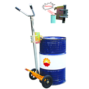 DE450 Portable 450kg manual drum lift truck with low price, mini oil drum trolley for warehouse