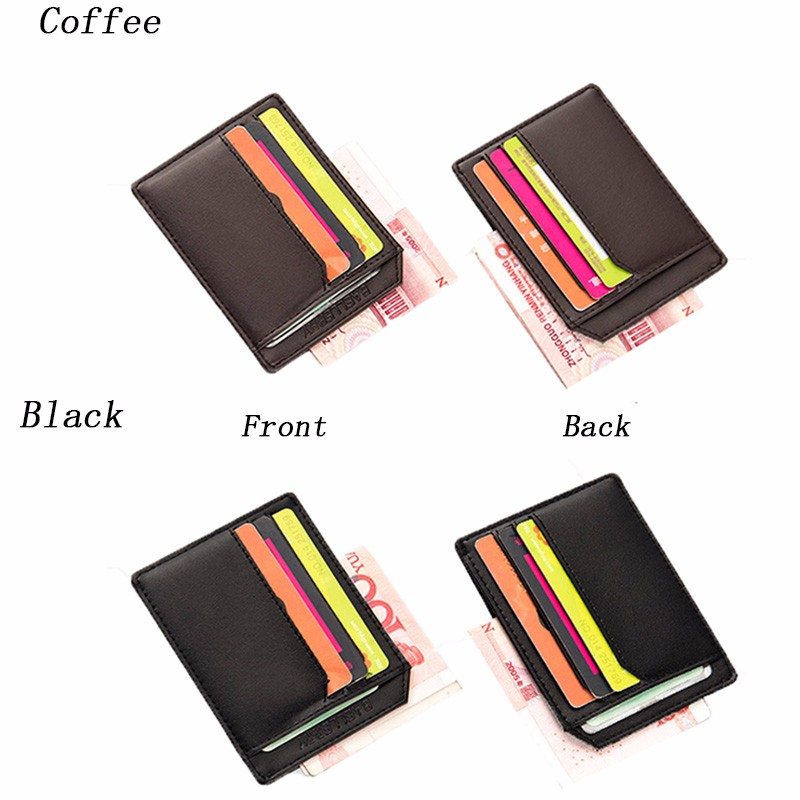 Customized most popular products credit card holder rfid leather