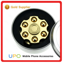 [UPO] Hot Selling Fidget spinner Toys with Long life ,High Quality spinning 5-6 minutes Alloy revolver Hand Spinner