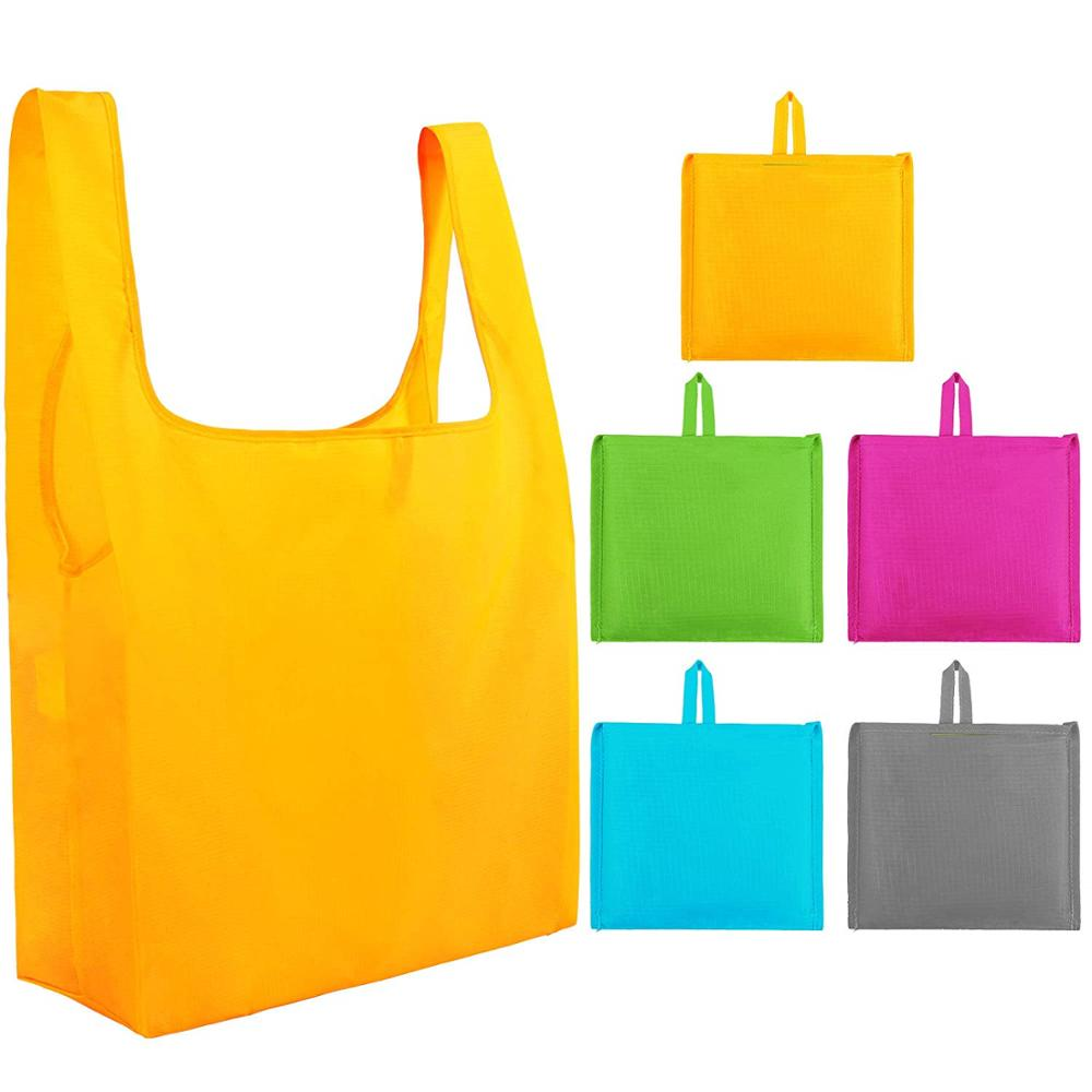 Reusable Grocery <strong>Tote</strong> Bags (6 Pack, Black) - Hold 44+ lbs - Large & Durable, Heavy Duty Shopping <strong>Totes</strong> - Grocery Bag with Reinfo