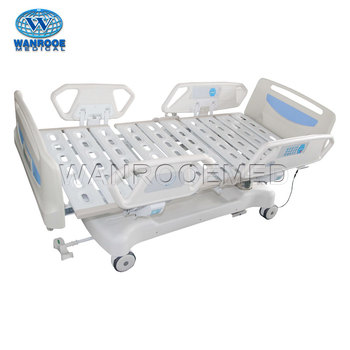 BIC601 Seven Function Manual Tilting ICU Patient Bed With PP Side Rails