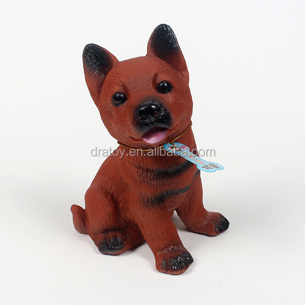 3D plastic custom animal TPR dog keychain