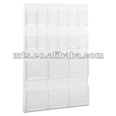 acrylic 6 literature display racks and12 pamphlet