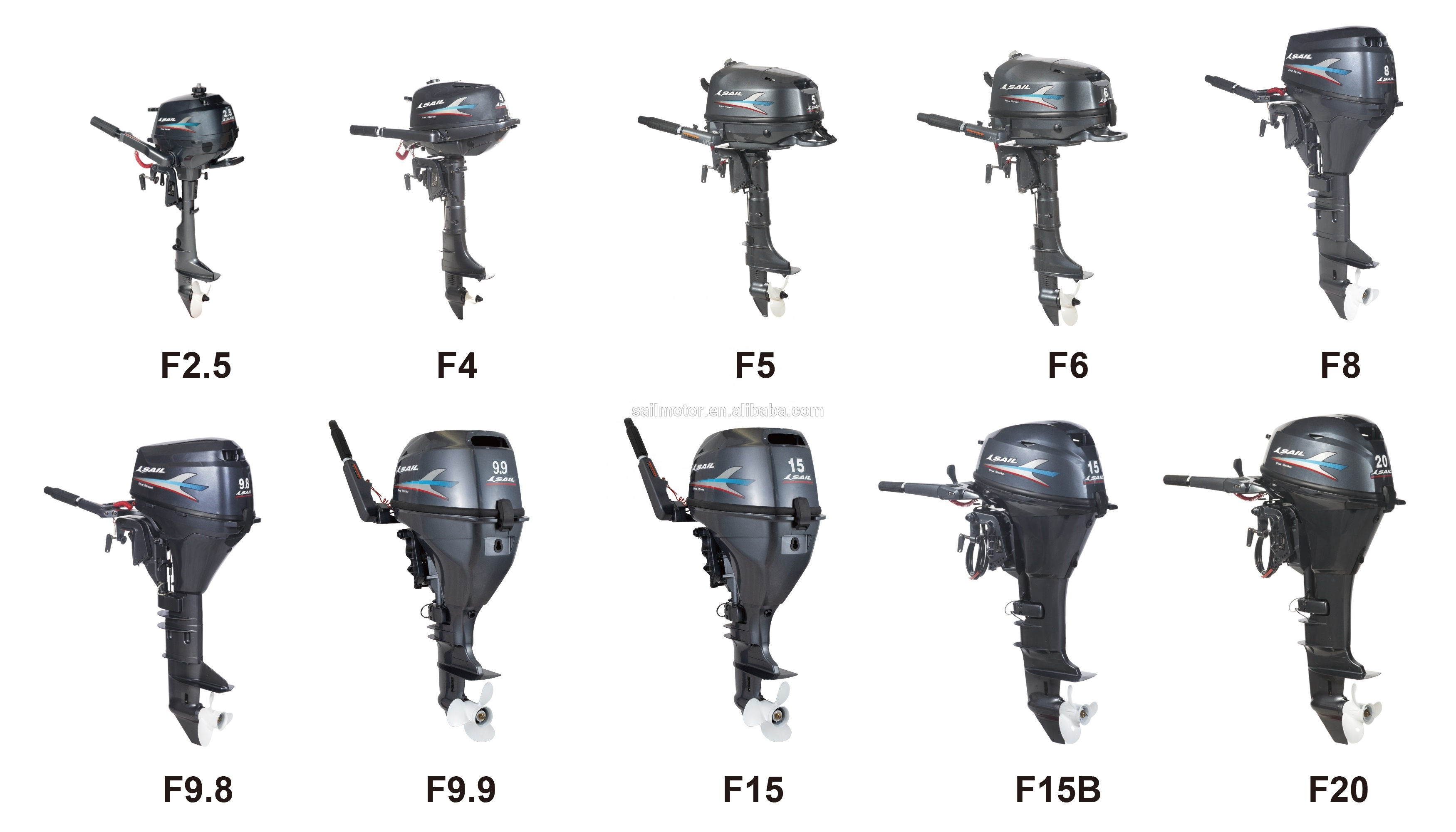 SAIL 2 stroke 9.8HP outboard motor / outboard engine / boat engine T9.8