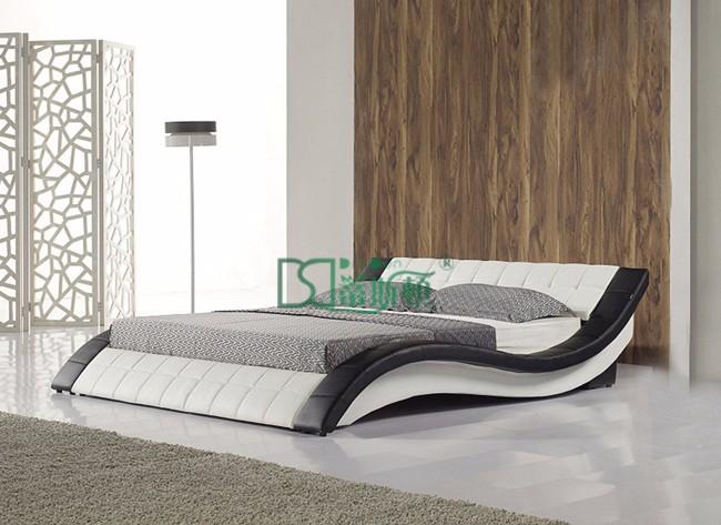 Foshan elegant ronmantic wedding circle bed furniture for European beds for sale