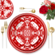 Paper -cut dinnerware sets on sale tableware sets ceramic plate