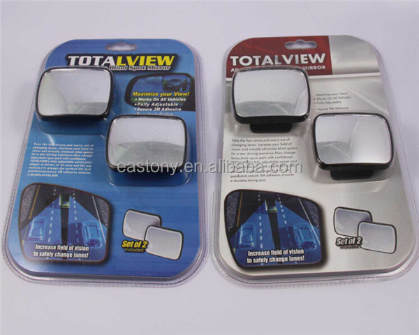 Total View Adjustable Blind Spot Small Car Side Mirror 360