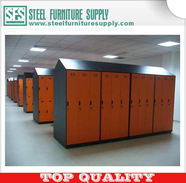 wardrobe , steel cloth cabinet, slope roof design locker