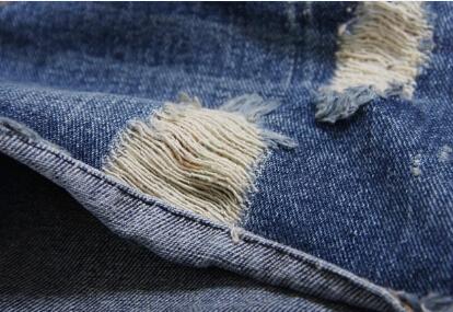 Стиль 6XL средняя талия америка одежда свободного покроя синий разрез рваные короткая джинсы деним шорты feminino