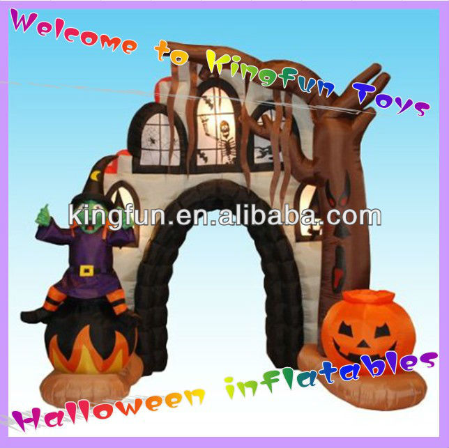 Customized inflatable helloween arch for sale