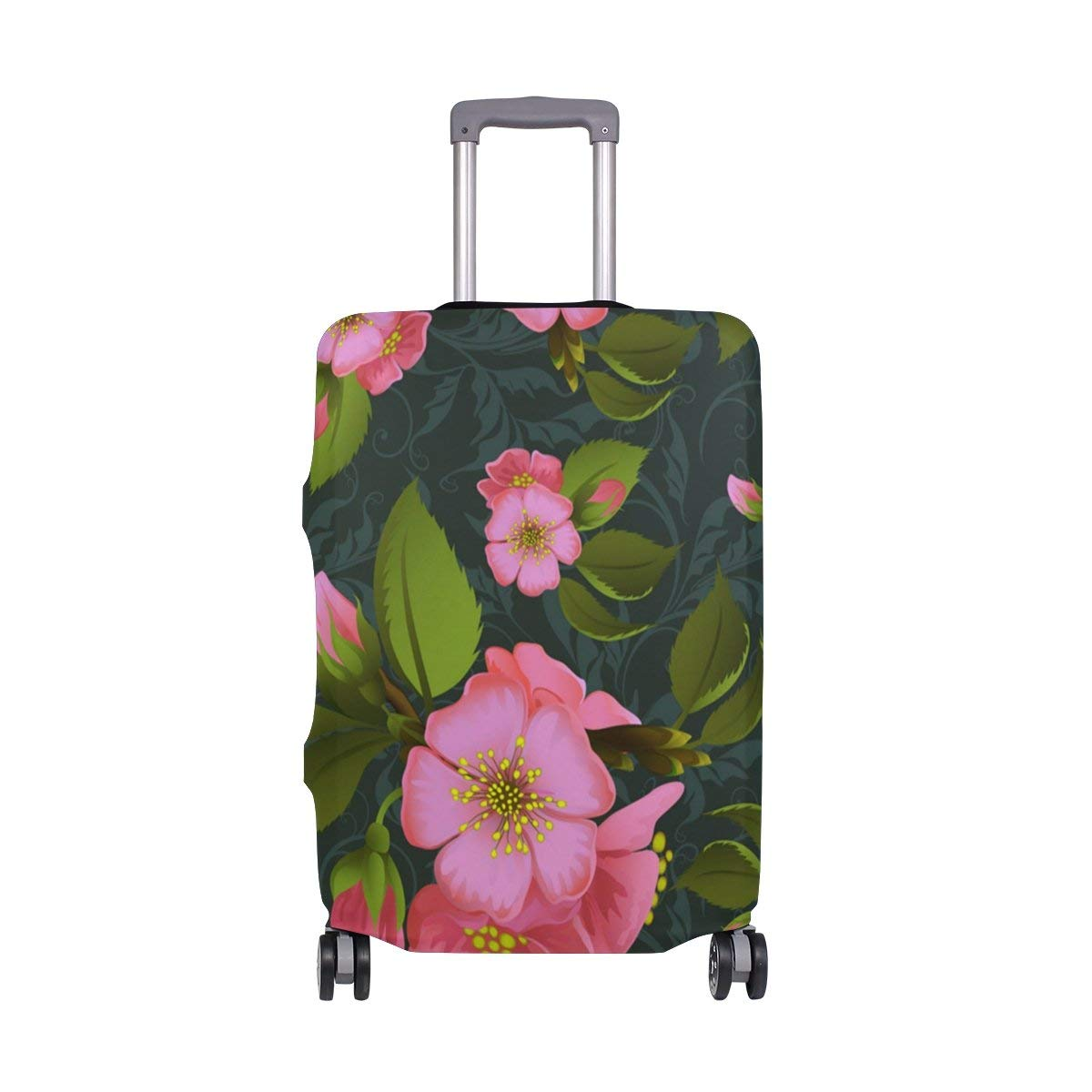 Pink Marble Rock Travel Suitcase Protector Zipper Suitcase Cover Elastic