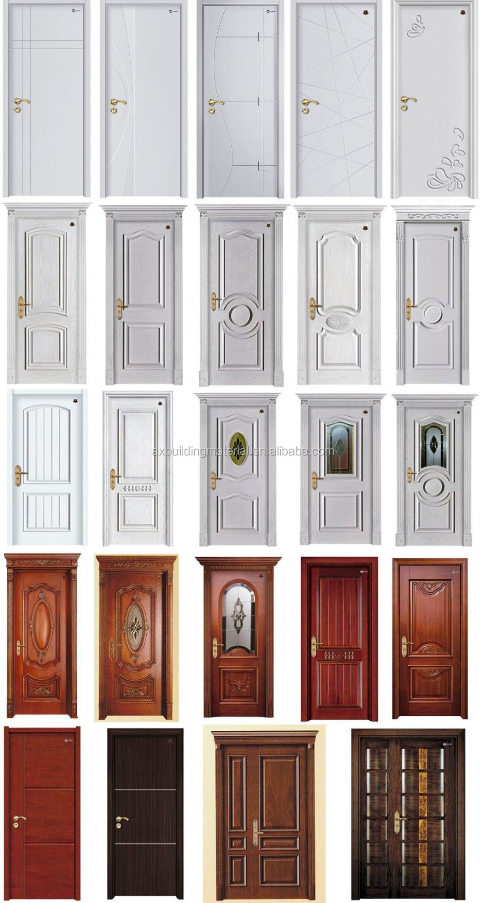 Uniqe Design Solid Wood Door