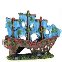 Beautiful Simulation Resin Aquarium Ornament Wreck Sailing Boat Sunk Ship Destroyer Fish Tank Aquarium Decoration
