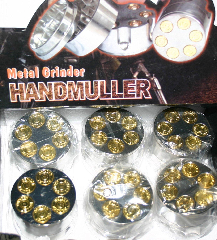 Bullet .357 Caliber Revolver Chamber Tobacco Grinder