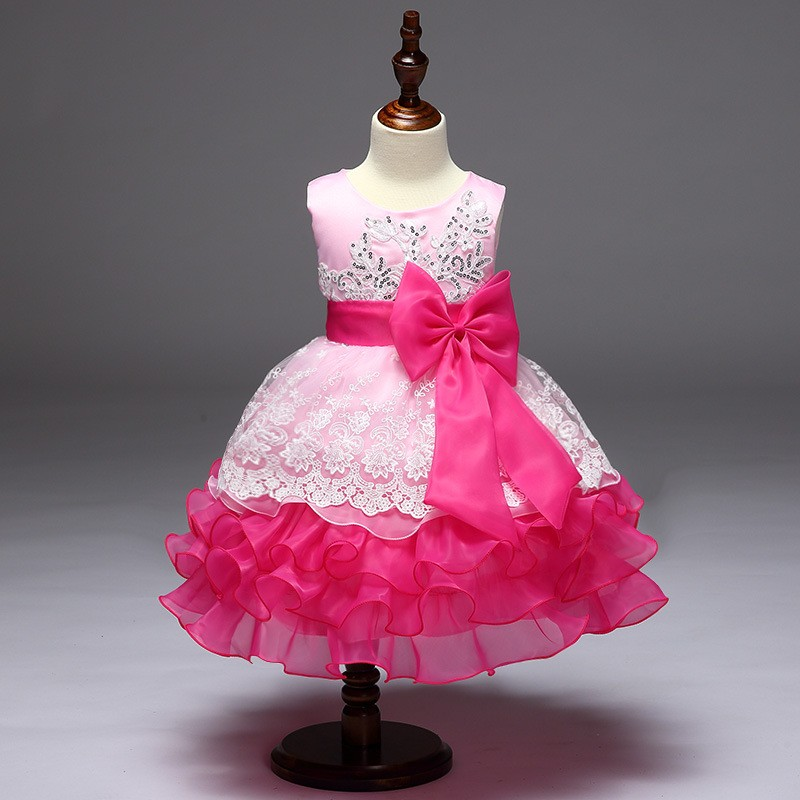 Últimas Diseño Niños Trajes Pastel Bordado Estilo Vestidos Vestido ...