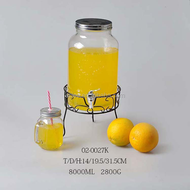 glass drinking straw dispenser with stainless metal cover wholesale glass dispenser  bottles