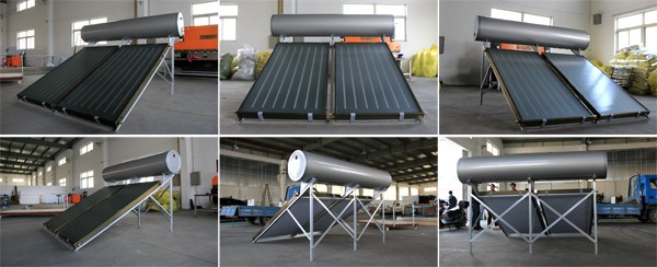 Domestic integral flat plate solar water heater
