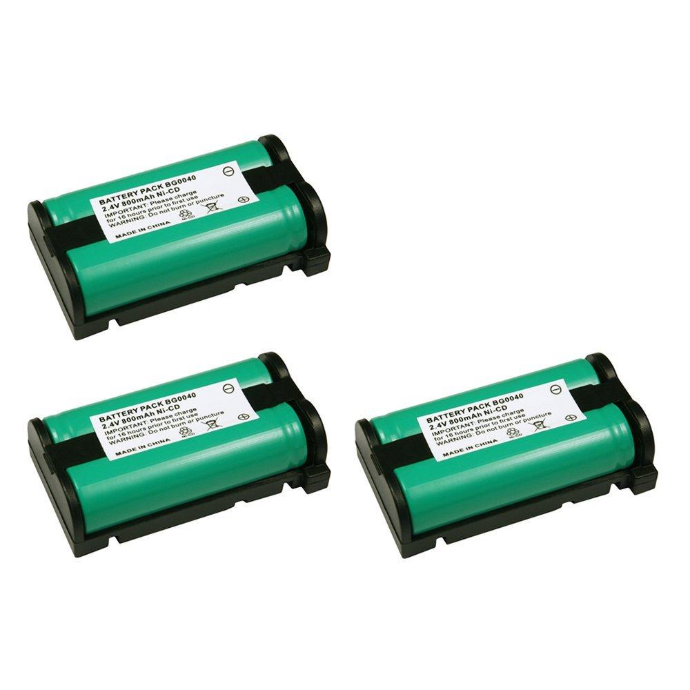 3 Pack Fenzer Replacement Cordless Phone Rechargeable Battery for Panasonic HHR-P513 HHR-P513A HHR-P513A1B HRR-P513A1B KX0TG2208 KX-TG2208B KX-TG2208W KX-TG2214 KX-TG2214B KX-TG2214S KX-TG2214W