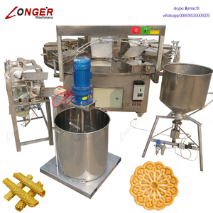 Semi Automatic Egg Roll Production Line Italian Pizzelle Cookies Maker Biscuit Ice Cream Cone Making Machine Waffle Cone Maker