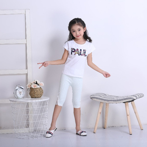 baby girl chiffon lace up slim leggings summer new cotton children's Pencil pants casual skinny lace children's leggings
