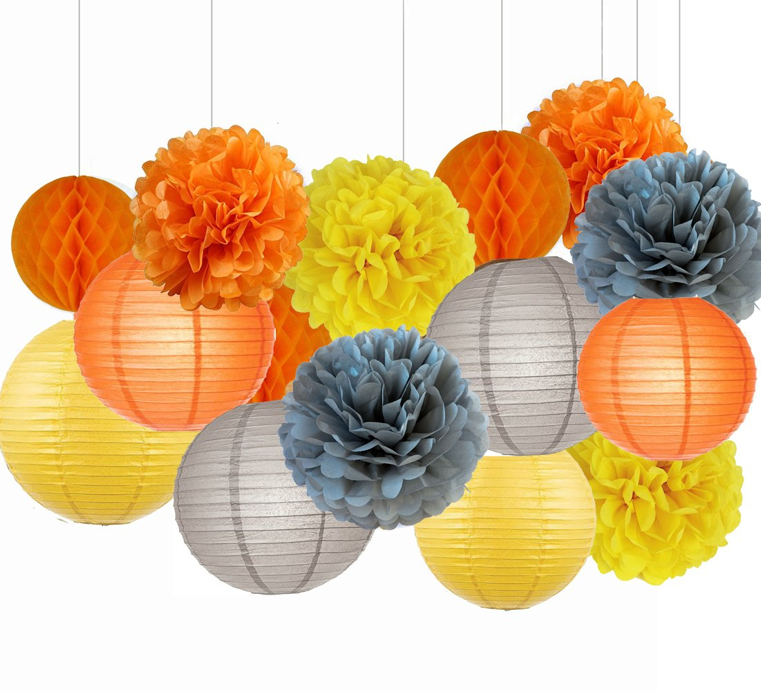 Sogorge Fall Party Decorations, Autumn Decorations, Thanksgiving Party Package, Orange Party Kit,Thanksgiving Party Decorations/Birthday Party Decorations