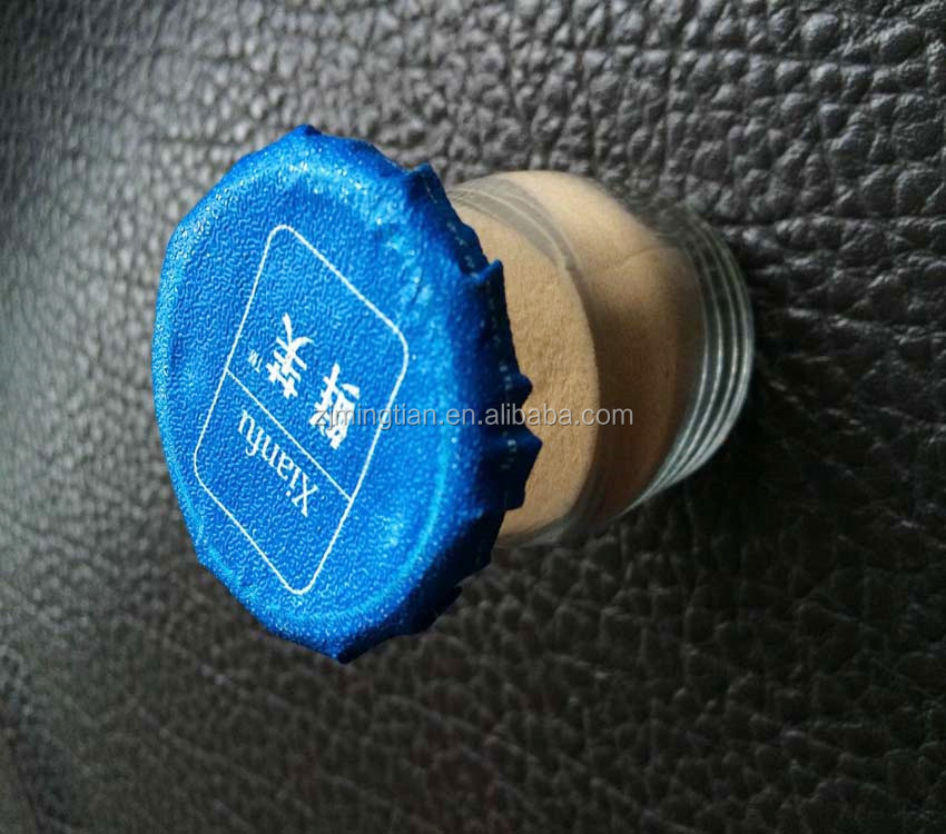 eco-friendly and food grade aluminum foil blue heat seal wad with logo for spices seasonings and foods bottle