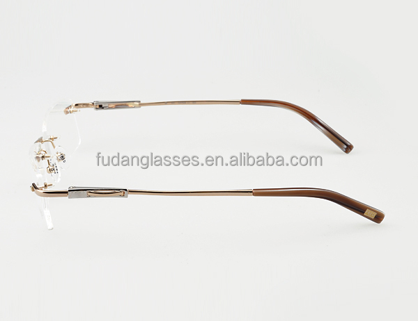 designer eyeglasses for men d0xe  French New Model Eyewear Rimless Eyeglasses Frame 2015 Designer Glasses  Frames for Men FD FLB43589