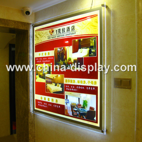 Hot Sale Transparent Acrylic Material Led Lighting Menu ...