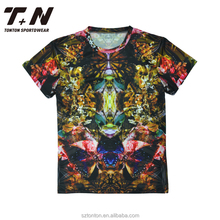 65% polyester 35% rayon t-shirt manufacturing sublimation custom t shirt printing