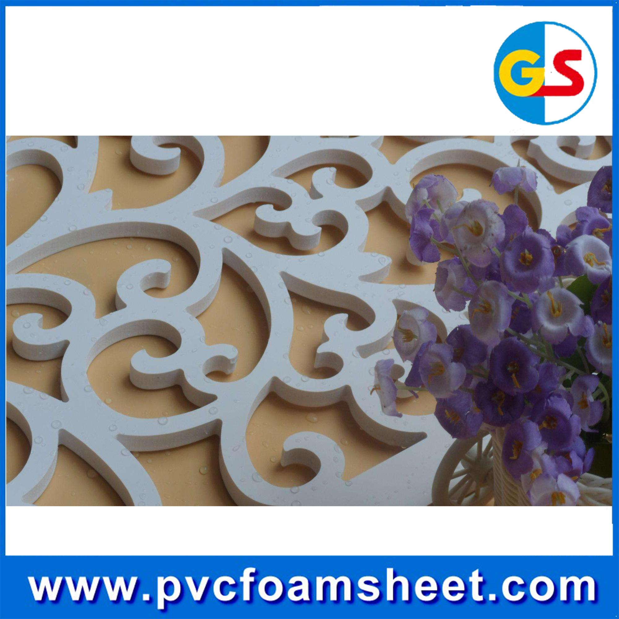 9mm PVC foam sheet forex white pvc board