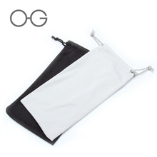 Custom logo microfiber glasses sunglasses pouch