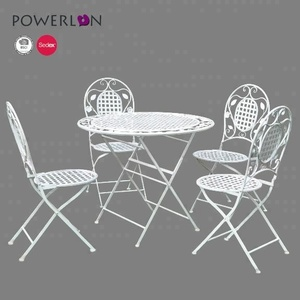 Hot sale iron antique white rustproof patio furniture of garden sets and living room set