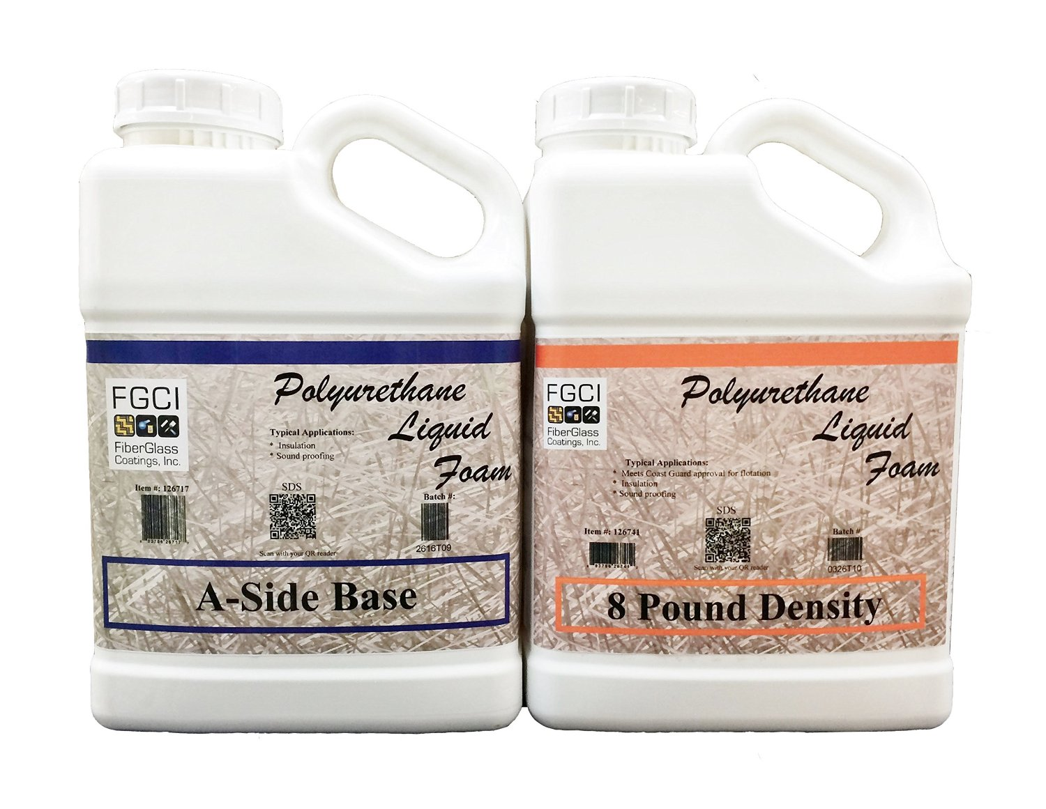 Liquid Urethane Foam Kit, 8 Lb Density, Includes 1 Gallon Part A & 1 Gallon Part B