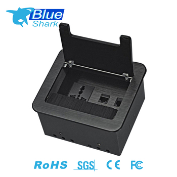 Multi-function Flip Up Desktop Switch Socket for Office Conference Table